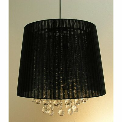 3-Light Drum Pendant Shade Color: Black