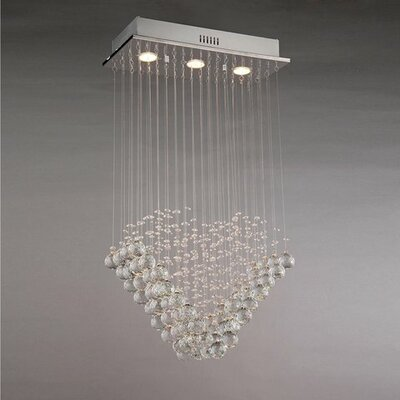 Amanda 3-Light Crystal Chandelier
