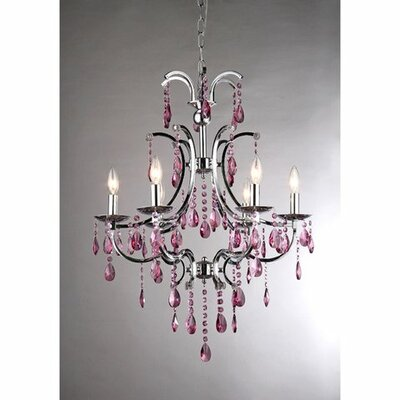 Shaina 6-Light Crystal Chandelier