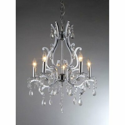 Form 5-Light Crystal Chandelier