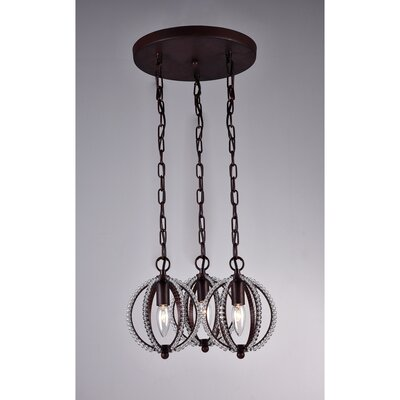 Olivia 3-Light Shaded Chandelier