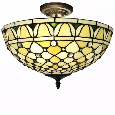 Alvira 2-Light Semi-Flush Mount