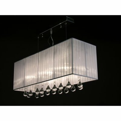 Bough 3-Light Kitchen Island Pendant Color: White