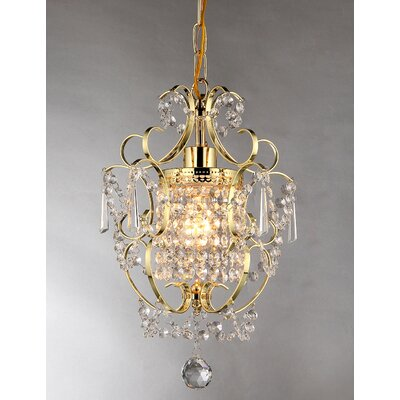 Asner 1-Light Crystal Pendant Finish: Gold