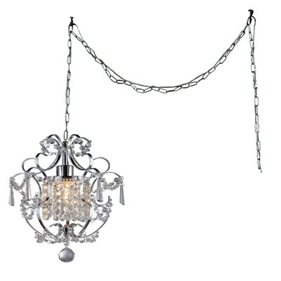 Asner 1-Light Crystal Pendant Finish: Chrome