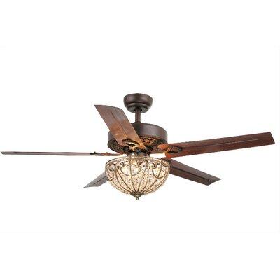 Aspen 5-Blade Crystal Light Ceiling Fan