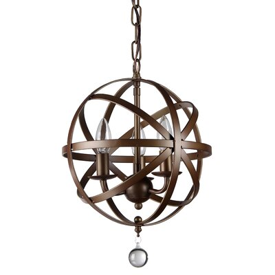 Riza 3-Light Globe Pendant
