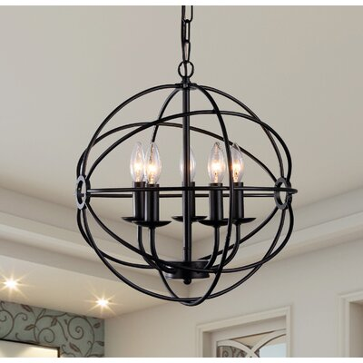 Catskill 5-Light Globe Pendant