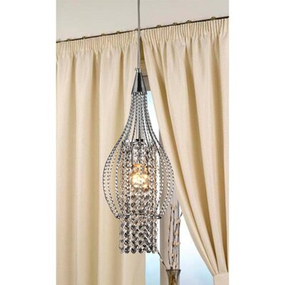 Xyza 1-Light Crystal Pendant