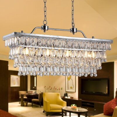 Willow 4-Light Crystal Kitchen Island Pendant