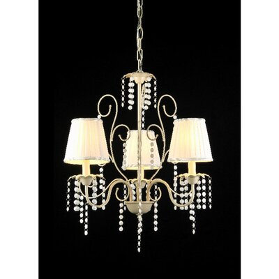 Elle 3-Light Shaded Chandelier