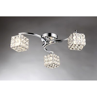 Liel 3-Light Semi Flush Mount