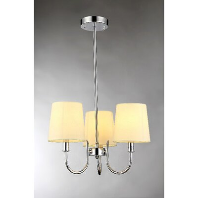 Aspen 3-Light Shaded Chandelier