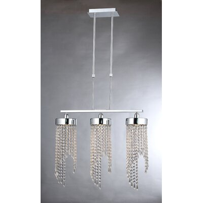 Lillian 3-Light Crystal Pendant