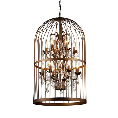 Rinee III Cage 12-Light Crystal Chandelier