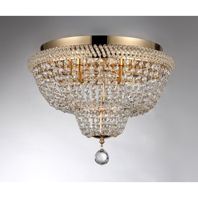 Sammy 5-Light Crystal Flush Mount