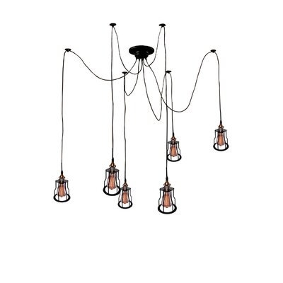 Salome 6-Light Shaded Chandelier