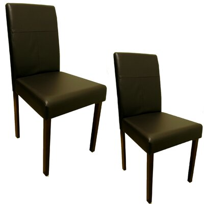 Lindenhurst Genuine Leather Upholstered Dining Chair