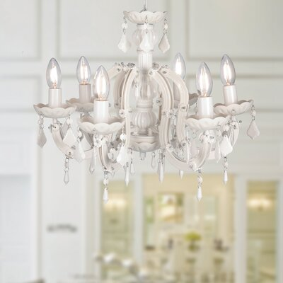 Emaleigh 6-Light Crystal Chandelier