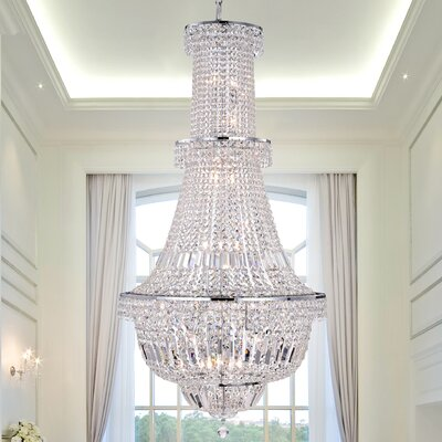 Zainabu 22-Light Crystal Chandelier