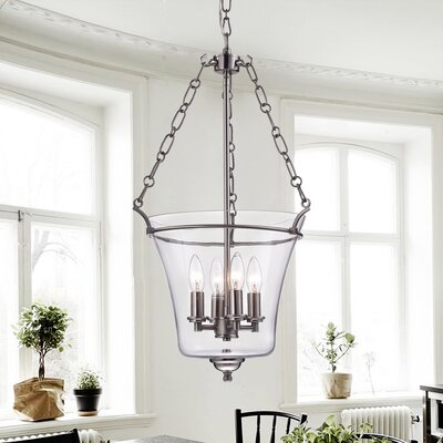 Reagan 4-Light Candle-Style Chandelier Finish: Nickel