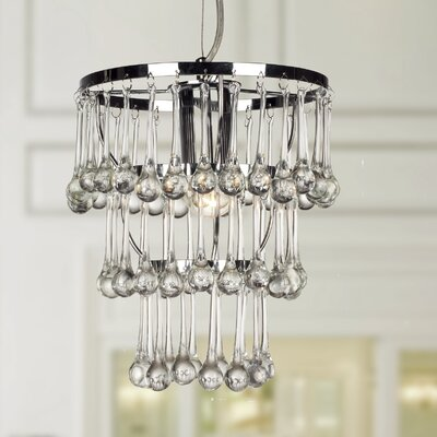 Ellspet 1-Light Crystal Pendant