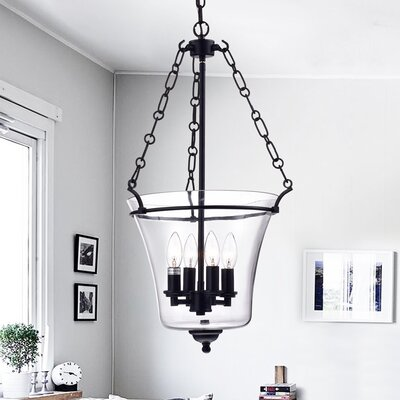 Reagan 4 Light Candle-Style Chandelier Finish: Antique Black RL8137BL