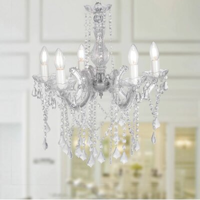 Encantadia 5-Light Crystal Chandelier