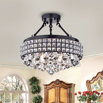 Daya 4-Light Semi Flush Mount