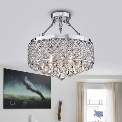 Viola 4-Light Semi Flush Mount