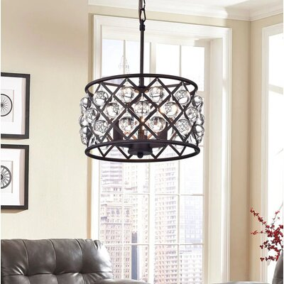 Branna 3-Light Crystal Chandelier