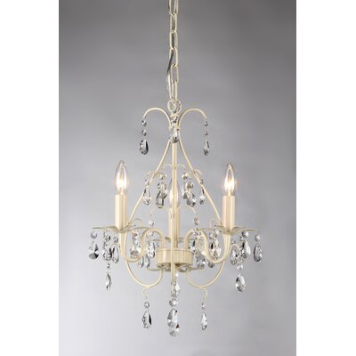 Lorraine 3-Light Crystal Chandelier