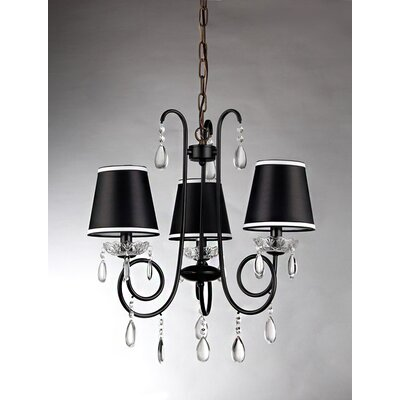 Christian 3-Light Shaded Chandelier