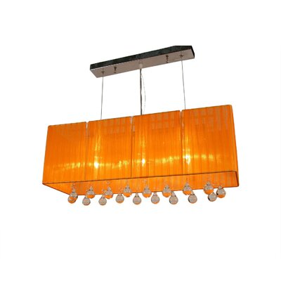 Bough 3-Light Kitchen Island Pendant Color: Orange