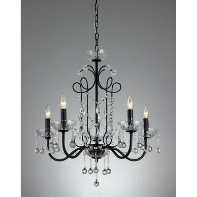 Donna 5-Light Crystal Chandelier