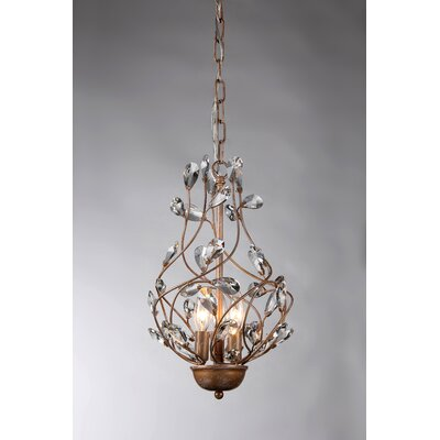 Lola 3-Light Crystal Chandelier