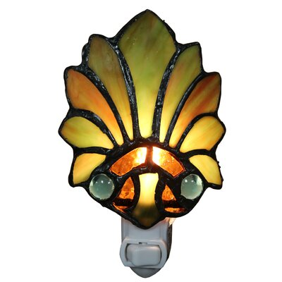 Farrah Lily Glass 1-Light Night Light