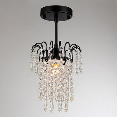 Davila 1-Light Crystal Pendant