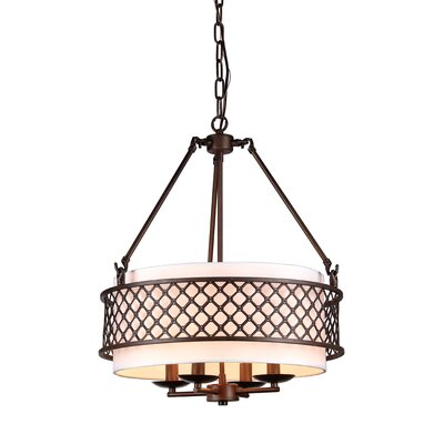 Sable 4-Light Drum Chandelier