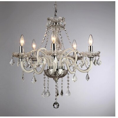 Gilliane 5-Light Crystal Chandelier