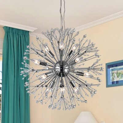 Eupifinia Spherical 12-Light Sputnik Chandelier
