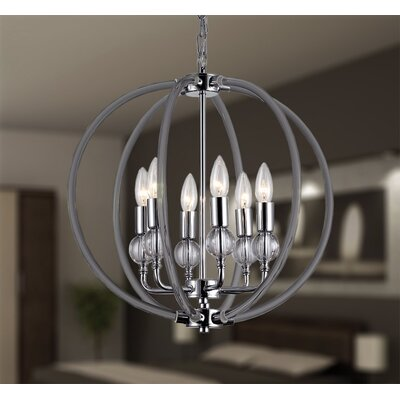 Gia 6-Light Globe Pendant