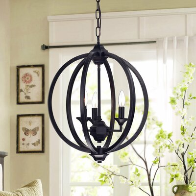 Birgir Metal 3-Light Globe Pendant