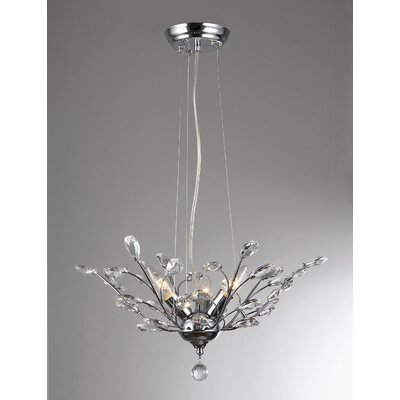 Honey 3-Light Crystal Pendant