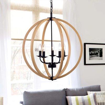4-Light Globe Pendant Size: 56 H x 24 W x 24 D