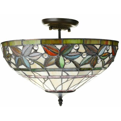 Eureka 2-Light Semi Flush Mount
