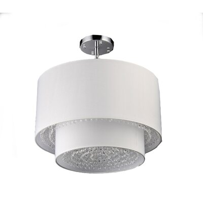 Matthea 6-Light Semi-Flush Mount Finish: White, Size: 11 H x 16 W x 16 D