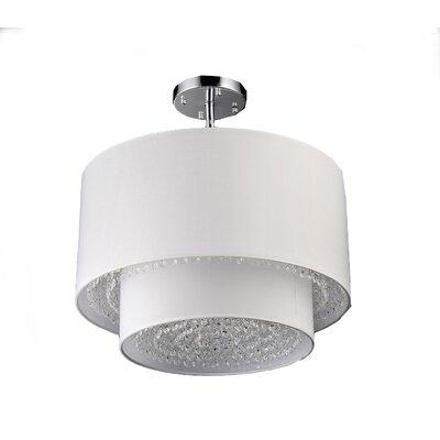 Matthea 6-Light Semi-Flush Mount Finish: White, Size: 11 H x 16 W x 16 D