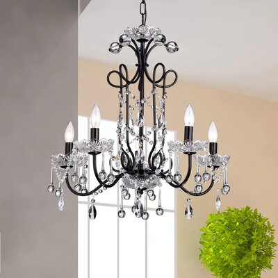 Maldita 5-Light Candle-Style Chandelier