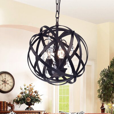Deadra 3-Light Globe Pendant